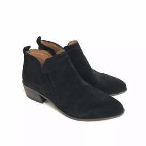 Franco Sarto Black Booties Women 5 Suede A Paivley